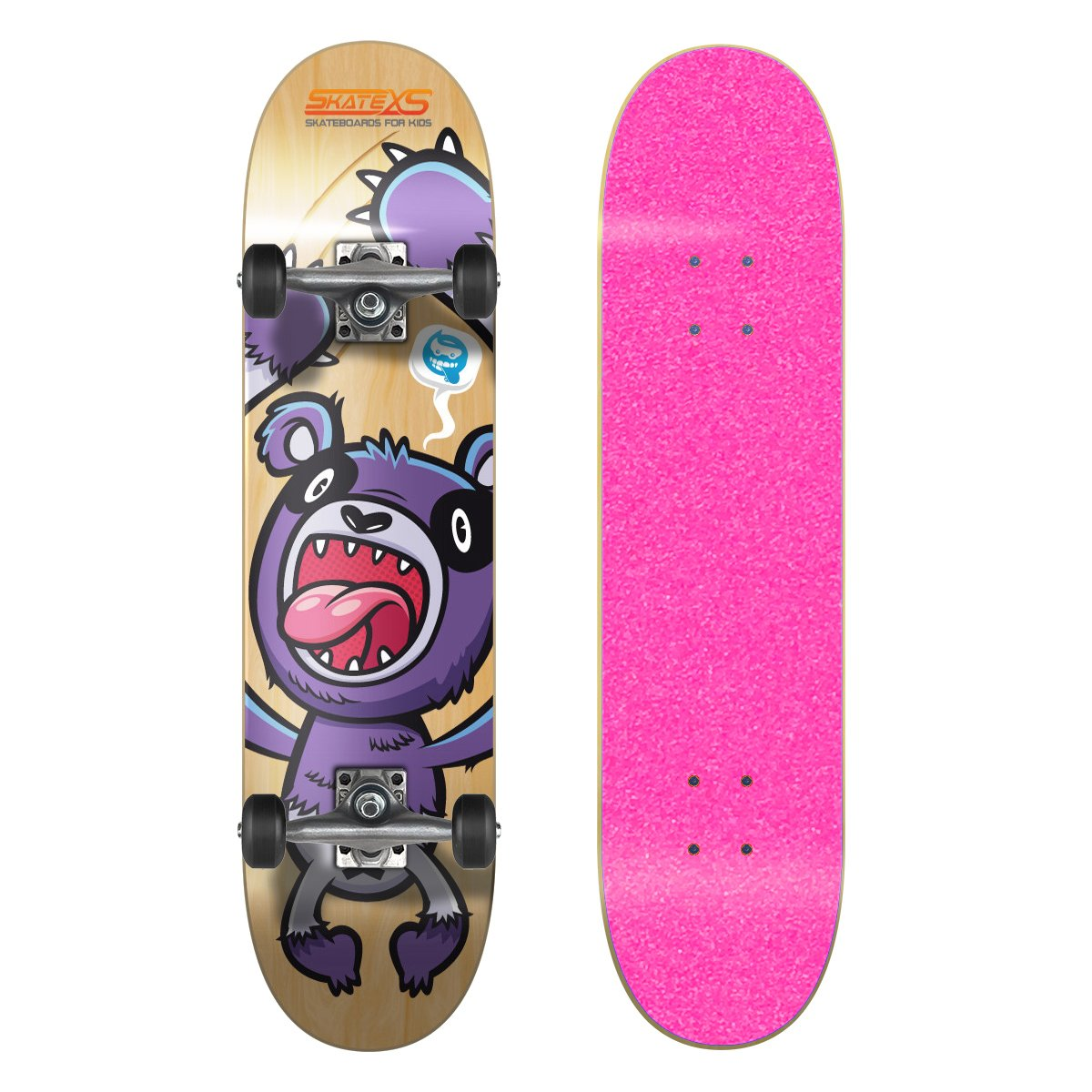 SkateXS 初心者 パンダ ストリート 11-12)|Pink キッズ 7.4 スケートボード B00YG1VXOG 11-12) 7.4 x 30 (Ages 11-12)|Pink Grip Tape/ Black Wheels Pink Grip Tape/ Black Wheels 7.4 x 30 (Ages 11-12), ニューズ タイヤ&ホイールズ:373e53ec --- harrow-unison.org.uk