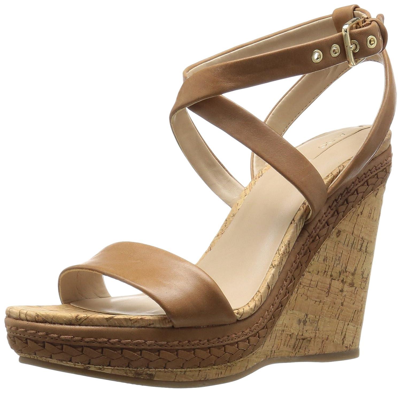 ALDO Women's Rosemina Wedge Sandal B01MAY8R76 8.5 B(M) US|Cognac