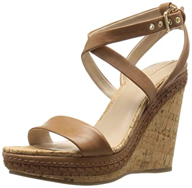 Aldo Womens Rosemina Wedge Sandal Cognac Size 90