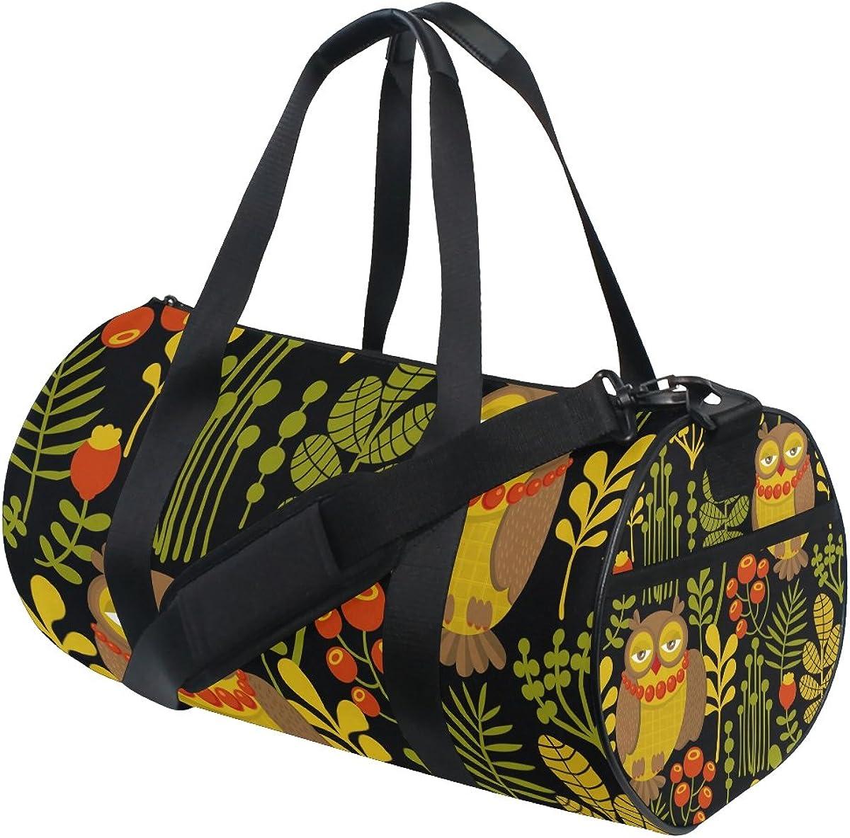 Evolutions Watercolor Owl Travel Duffel Bag Sports Gym Bag For Men /& Women