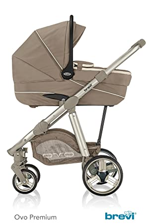 Brevi Ovo Car Premium cochecito + silla + Capazo Tortora: Amazon.es: Bebé