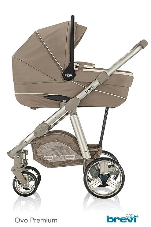 Brevi Ovo Car Premium cochecito + silla + Capazo Tortora ...