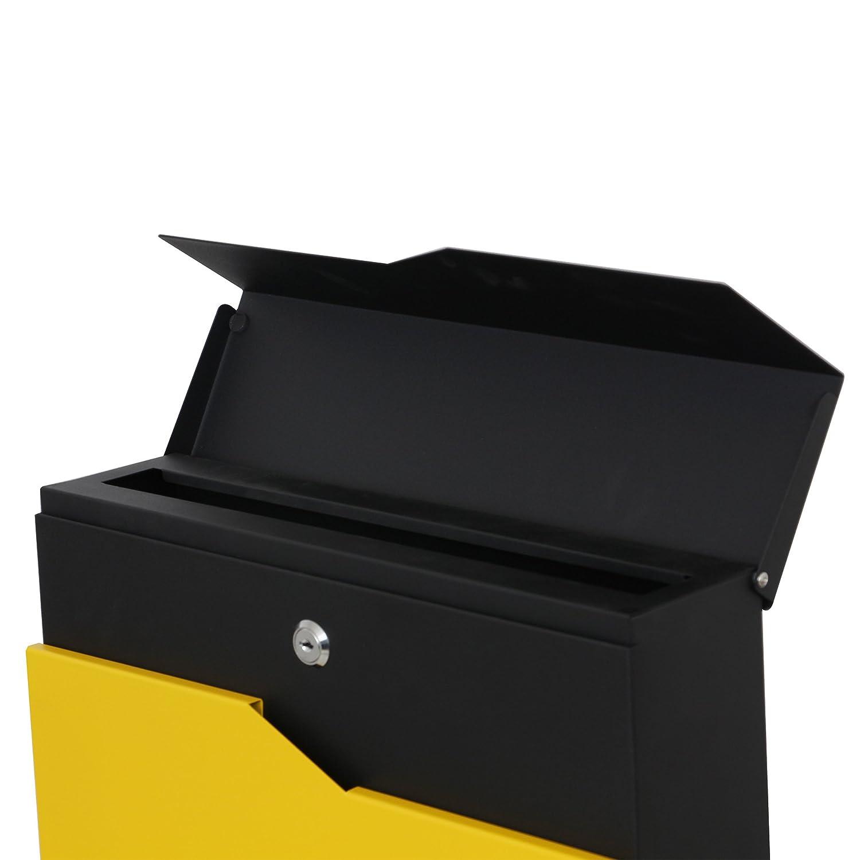 LZQ Modern nuevo dise/ño de buz/ón cepillado acero inoxidable Post Buz/ón con compartimento para el peri/ódico antracita Post Buz/ón de pared Buz/ón con peri/ódicos