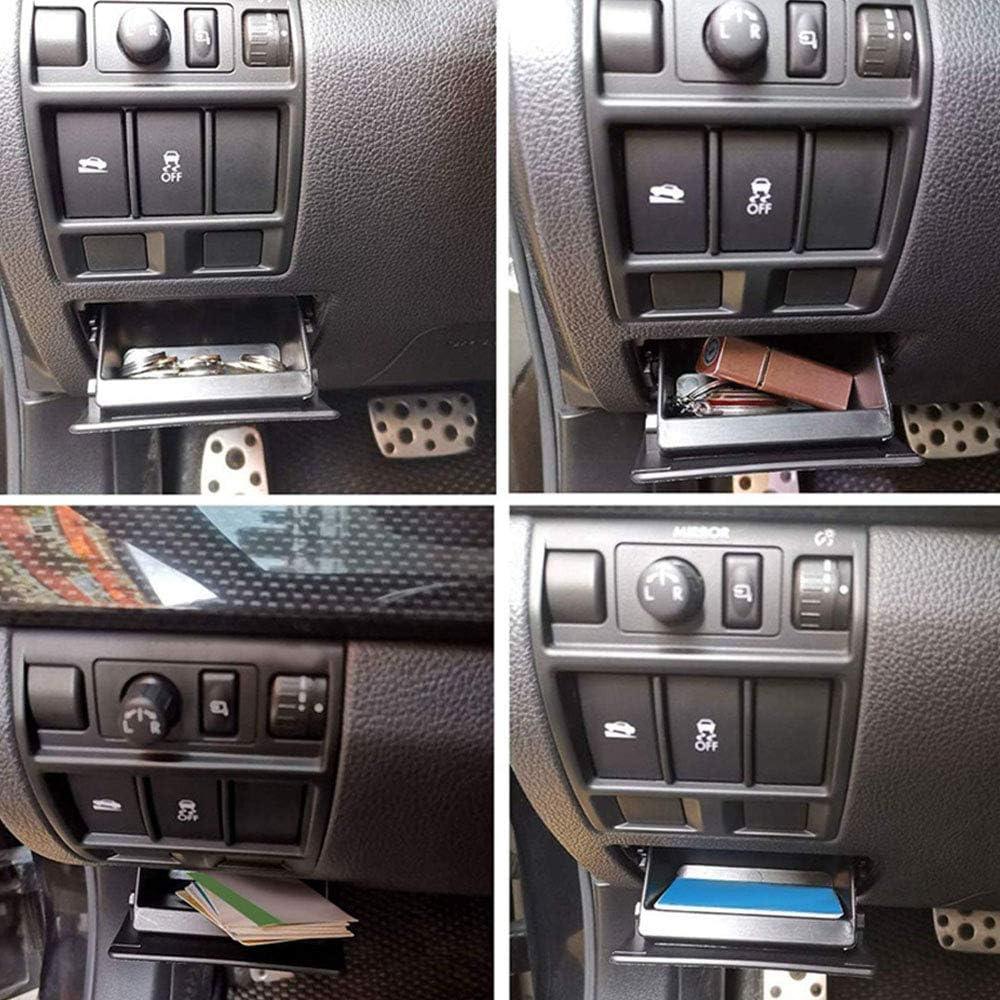 Black ABS Fuse Box,Coin Container Storage Tray Compatible with Subaru XV Crosstrek Forester Outback Legacy Impreza WRX STI