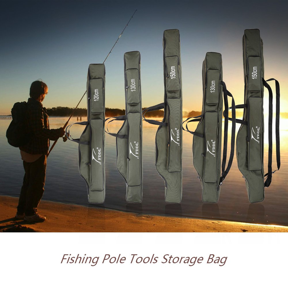Amazon.com : Docooler Portable Folding Fishing Rod Carrier Canvas Fishing  Pole Tools Storage Bag Case Fishing Gear Tackle : Sports U0026 Outdoors