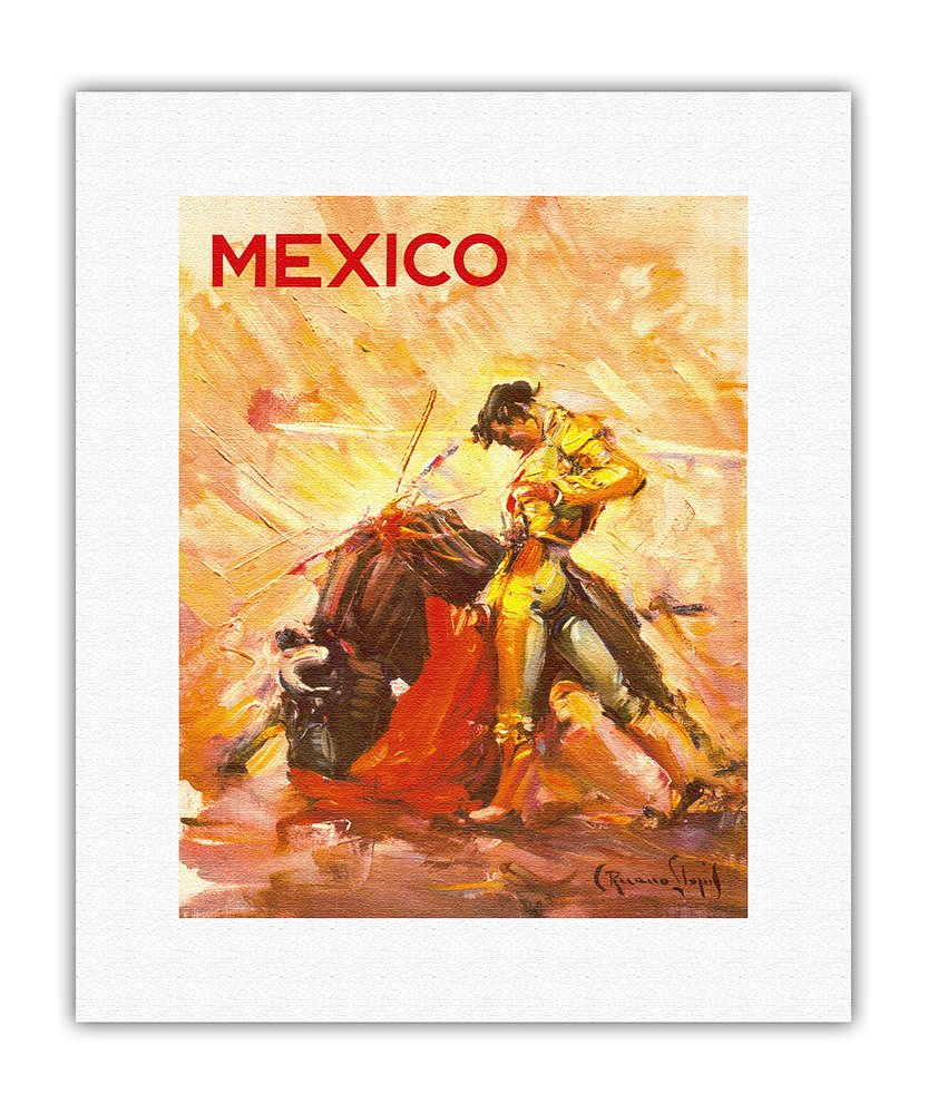 Amazon.com: Mexico - Bullfighting Matador - Vintage World Travel ...