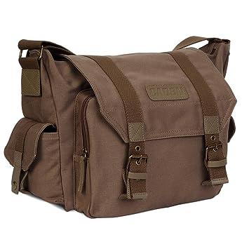 CADeN Lightweight Vintage Waterproof Canvas DSLR SLR Shockproof Camera Shoulder Messenger Bag Compatible for Canon Sony Nikon