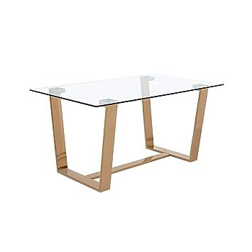 Amazon.com: Kit moderno de mesa de comedor de cristal ...