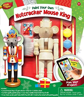 Amazon 12 unpainted blank wooden nutcracker with paint fur masterpieces works of ahhh holiday nutcracker mouse king wood paint kit solutioingenieria Image collections