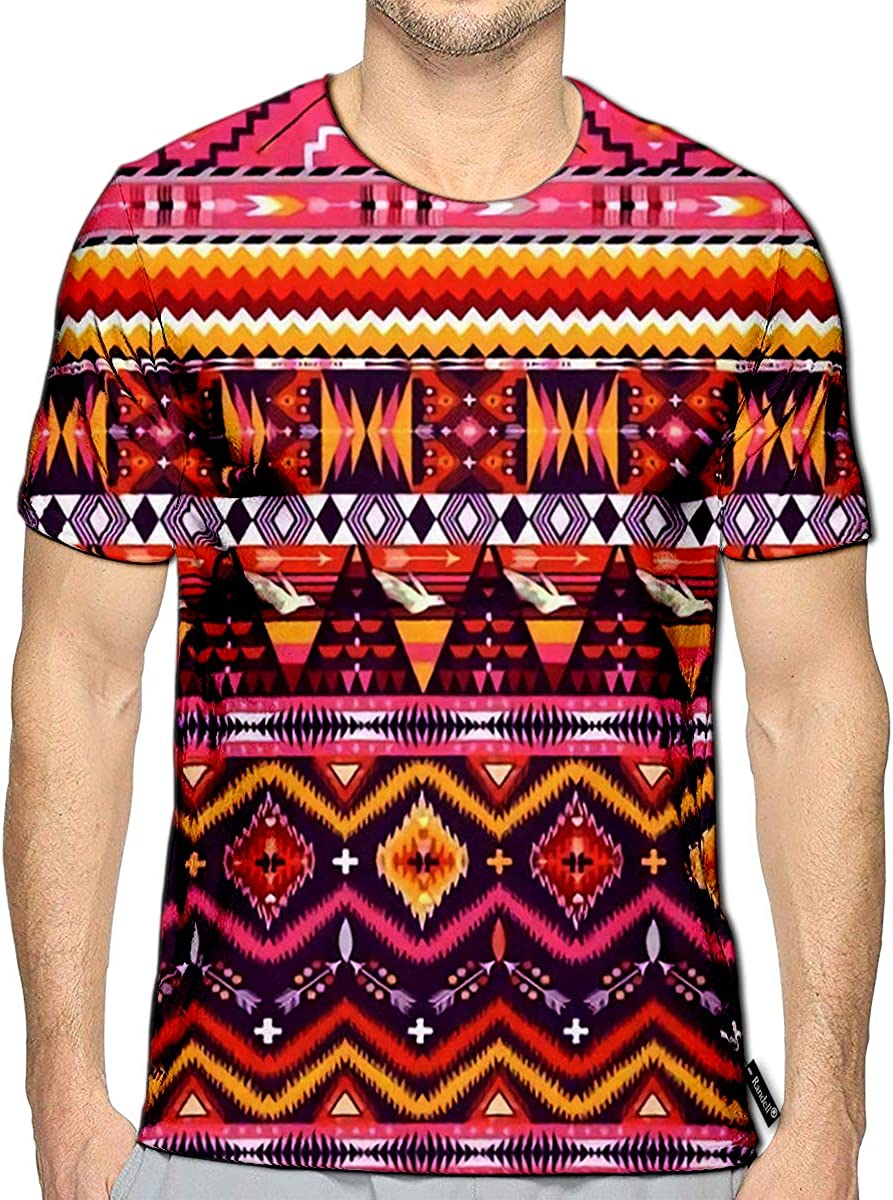 3D Printed T-Shirts Aztec Pattern Geometric Short Sleeve Tops Tees