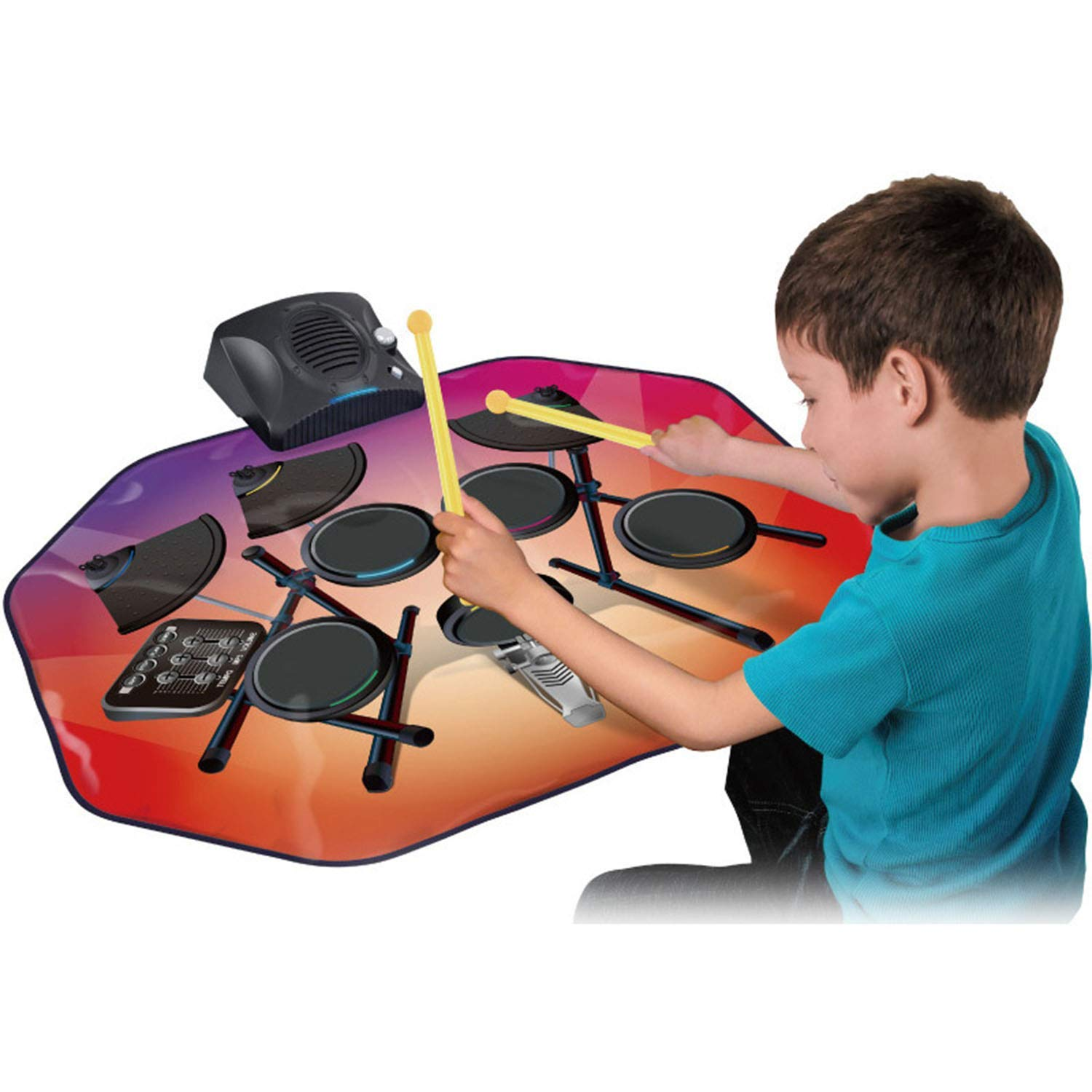 Drum Music Blanket, Jazz Drum Game Pad, Carpet Dance Mat, with Built in Music Tracks, 5 Music, Recording Function, Can Connect to Mobile Phone by ankt777 (Image #1)