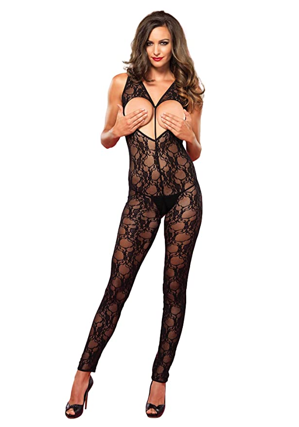 07a93c3659b Sexy Leg Avenue Sweetheart Crotchless Bodystocking with Heart Shaped Open  Bust