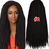 3D Cubic Twist Crochet Braids hair Kanekalon Braid Synthetic Hair Extensions 6 packs 22 inch 135g/packs