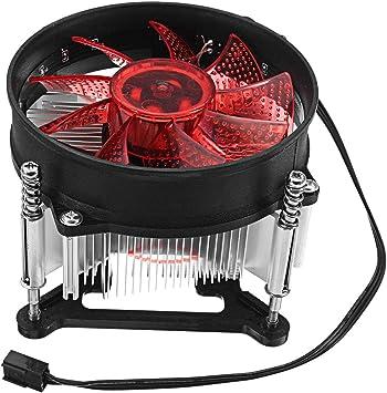 90 * 90 * 25mm 4Pin 12V Verde Rojo Verde LED CPU Enfriador ...