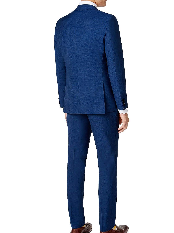 dd83c238 Hugo Boss 2 Piece Set Slim Fit Men's Suit Wool C-Jeffery/C-Simmons Micro  Check Blue Retail Price $695.00