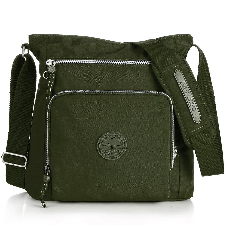ENKNIGHT Nylon Crossbody Purse Bag for Women Travel Shoulder ...