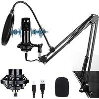 (2021 Nuevo modelo)Cheelom Kit 192KHZ / 24BIT de Micrófono Condensador Profesional y Micrófono Condensador para…