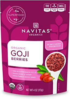 product image for Navitas Organics Goji Berries, 4 oz. Bag, 4 Servings - Organic, Non-GMO, Sun-Dried, Sulfite-Free