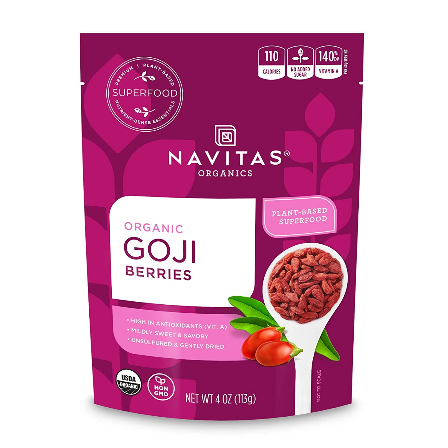 Navitas Naturals Power Dried Berries - Goji - 4 oz