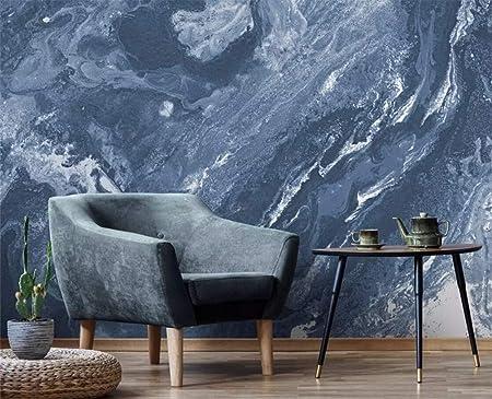3d Wallpaper Tv Wall Decor Sticker Gray Blue Marble Texture Modern