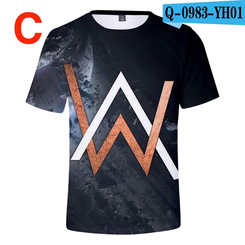 Amazon.com: PapCell Walker Shirt Faded Tshirt Black ...