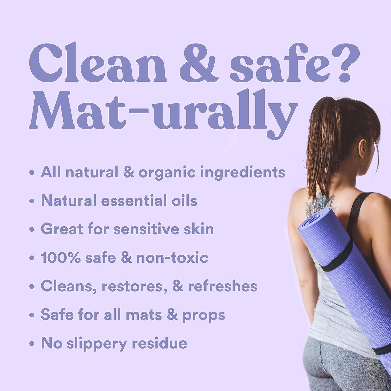 Amazon.com: Limpiador de colchoneta para yoga 100% natural y ...