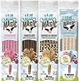 Milk Magic Magic Milk Flavoring Straws 36 Straws Flavors:Cookies and Cream, Chocolate, Strawberry,Cotton Candy