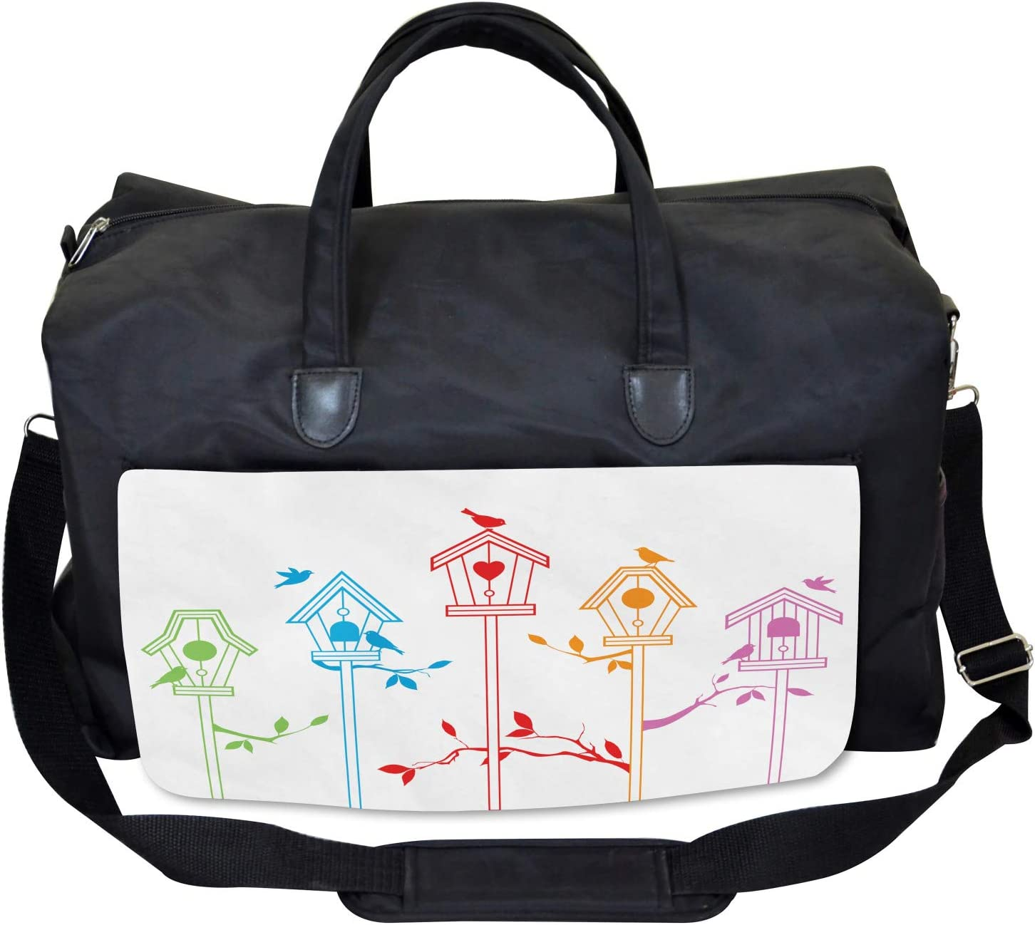 Flying Bird Nest Roof Ambesonne Colorful Gym Bag Large Weekender Carry-on
