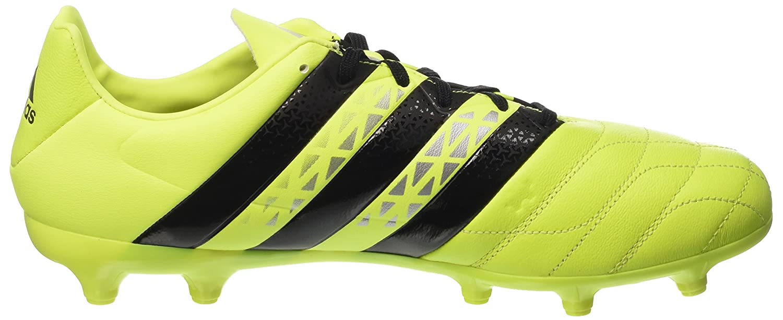 adidas Herren Ace 16.1 SG Lea AQ4456 Fußball-Trainingsschuhe, Multicolore (SYELLO/Cblack/Silvmt), 46 EU