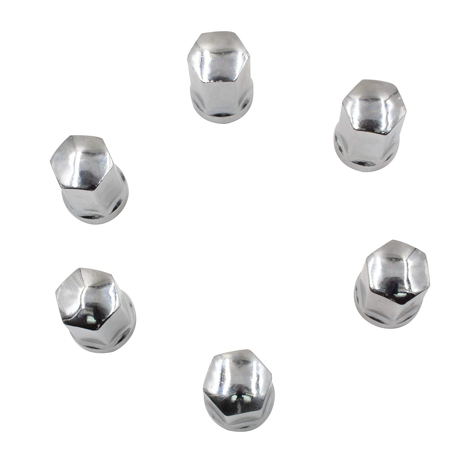 Chrome 1.77 Long OEM Factory Style Direct Replacement Lug Nuts Fits 2000-2020 Chevy Silverado Tahoe Suburban Avalanche Dodge Ram Wheel Accessories Parts Set of 24 Lug Nut M14x1.5
