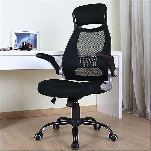 BERLMAN Ergonomic High Back Mesh Office Chair with Adjustable Armrest Desk Chair Computer Chair Black Plus