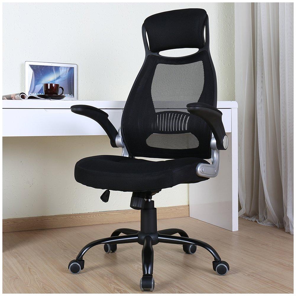 BERLMAN High Back Mesh Office Chair with Adjustable Armrest Swivel Task Desk Chair Computer Chair