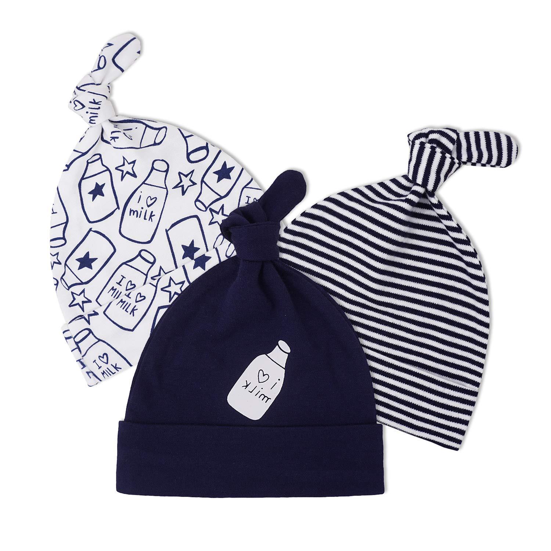 Newborn Toddler Girl /& Boy Baby Infant Warm Knit Hospital Hat Beanie Cap Alert