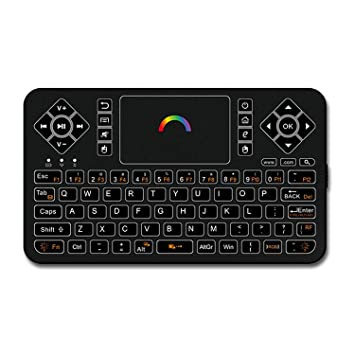 82118ab0755 Best Wireless Keyboard with Touchpad Mouse - Q9 2.4GHz Colorful Backlit  Mini Wireless Keyboard,