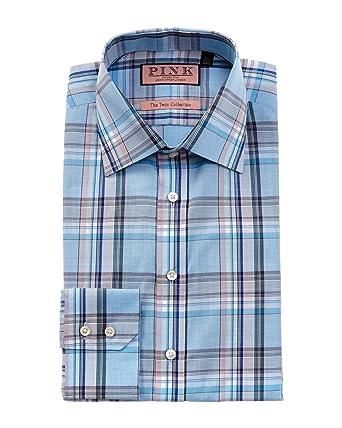 Thomas Pink Mens Kessel Slim Fit Dress Shirt, Blue at Amazon Men's ...