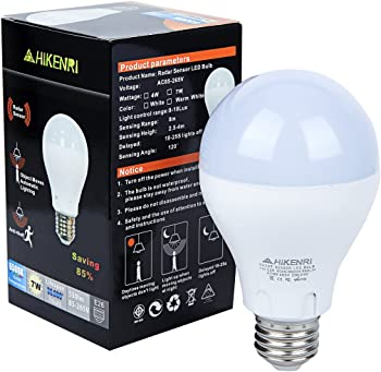 Motion Sensor Light Bulb ,7W(60W Equivalent) Radar Smart Bulb Dusk to Dawn LED Motion Sensor Light Bulbs E26/E27Base Indoor Sensor Night Lights White 6500K Outdoor Motion Sensor Bulb Auto On/Off