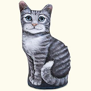product image for Fiddler's Elbow Sitting Grey Tabby Cat Kitten Doorstop Paperweight