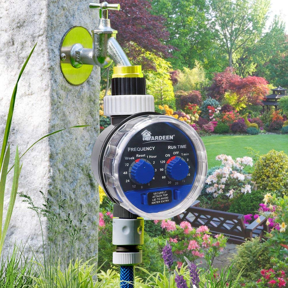 No Water Pressure Required Yardeen Electronic Water Timer Garden Irrigation Controller Digital Intelligence Watering System LCD Waterproof