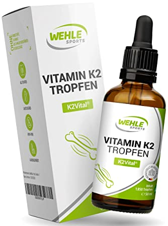 gorąca wyprzedaż nieźle bliżej na Vitamin K2 MK-7-200µg 1850 Tropfen, 50ml - Premium: K2VITAL® von Kappa -  99,7+% All-Trans - Laborgeprüft, vegan, hochdosiert, und hergestellt in DE.