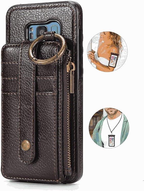 耐汚れ 手帳型 サムスン ギャラクシー Samsung Galaxy S6 ケース レザー スマホケース 財布型 本革 カバー収納