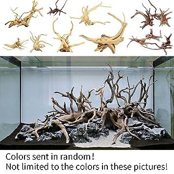 Tronco de madera natural, Madera de deriva, decoración o adorno para acuario o pecera, color al azar: Amazon.es: Productos para mascotas
