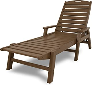 product image for POLYWOOD NCC2280TE Nautical Arms Chaise, Teak