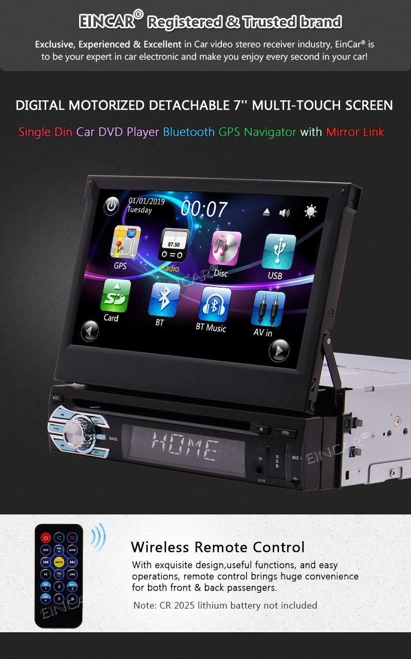 7 pouces 1 Din de navigation GPS /à /écran tactile capacitif de voiture Bluetooth Syst/ème Autoradio st/ér/éo FM AM Radio R/écepteur Bouton color/é lumi/ères EQ Android MirrorLink USB SD AUX Lecteur vi