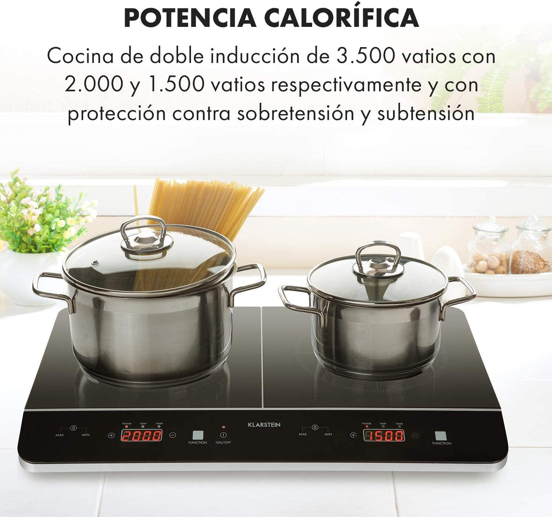 Klarstein VariCook Slim - Cocina, Placa de inducción doble, 3500 W ...