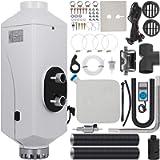 Happybuy 5KW Diesel Air Heater Aluminum Alloy Air Diesel Heater 12V 5KW Diesel Parking Heater Muffler with Digital…