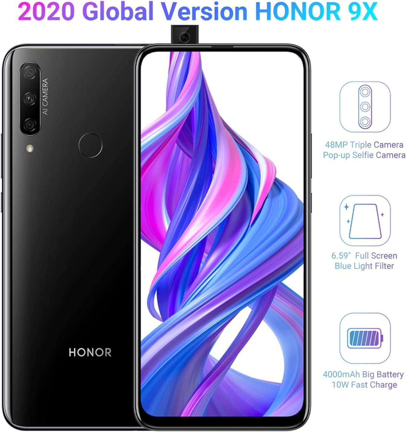 HONOR 9X Smartphone Telefono Movil 4GB RAM 128GB ROM, Pantalla ...