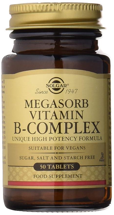 Solgar Megasorb Vitamina B-Complex Comprimidos - Envase de 50