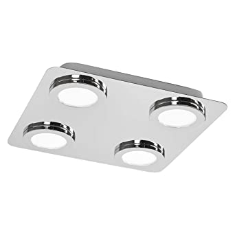 Lampenwelt LED Deckenleuchte \'Hilda\' dimmbar (spritzwassergeschützt ...