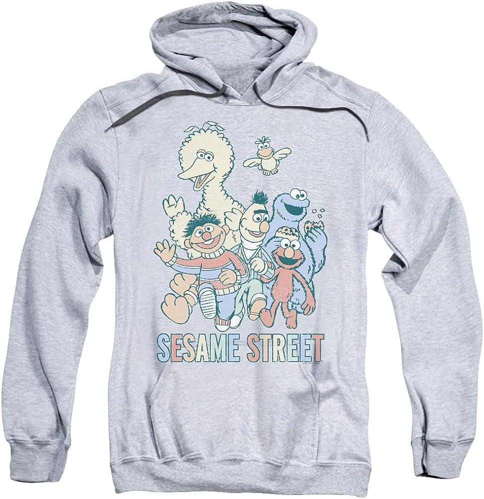 Mens Colorful Group Pullover Hoodie Sesame Street