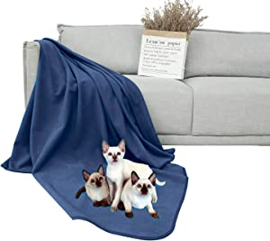 DEARTOWN 100% Waterproof Furniture Cover for Dogs and Cats,Super Soft Pet Blanket for Bed Couch Sofa (70x120 Inches, Navy)